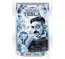 Inventor Nikola Tesla. Thomas Edison. Electricity Poster