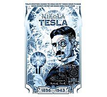 Inventor Nikola Tesla. Thomas Edison. Electricity Photographic Print
