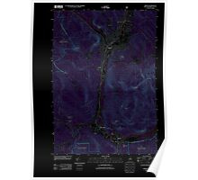 USGS TOPO Map New Hampshire NH Berlin 20120615 TM Inverted Poster