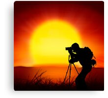 shooting the sun Canvas Print