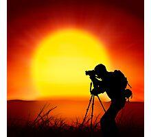 shooting the sun Photographic Print