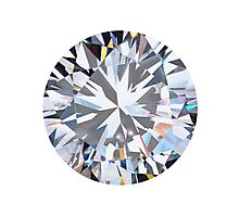 brilliant cut diamond  Photographic Print