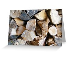 LOGS  ART PRINT/GREETING CARD,CANVAS AND MORE Greeting Card
