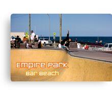 Layback Rollout - Empire Park Skate Park Canvas Print