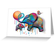 Party Elephants Greeting Card