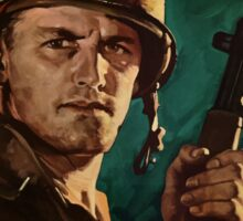 The Battle-Wise Infantryman Is Careful -- WWII Sticker