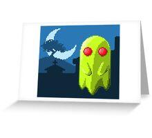 Pixel Ghost Greeting Card