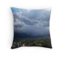Rocky Mountain Storm Throw Pillow