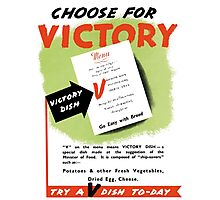 Try A V-Dish To-Day -- World War Two Photographic Print