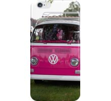 VW Camper van in pink iPhone Case/Skin