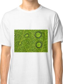 Water Drops on Leaf Classic T-Shirt