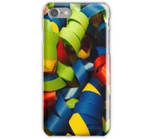 Colorful Curly Ribbons iPhone Case/Skin