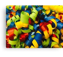Colorful Curly Ribbons Canvas Print