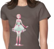 Strawberries and Mint Doll Womens Fitted T-Shirt
