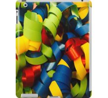 Colorful Curly Ribbons iPad Case/Skin