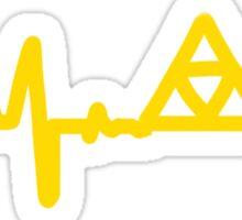 Legend of Zelda Electronic Music Beat Triforce Sticker