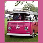 VW Camper in pink by Martyn Franklin