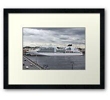 ship at the pier  Framed Print
