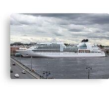 ship at the pier  Canvas Print