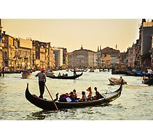 Venetian Gondola at dawn Photographic Print