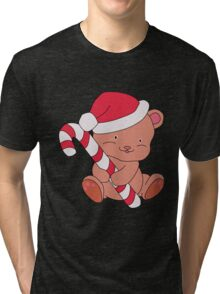 Christmas Bear Tri-blend T-Shirt