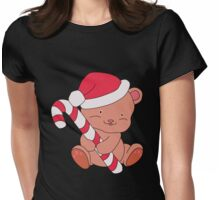 Christmas Bear Womens Fitted T-Shirt