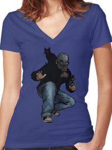 I Can Haz Leroy Women's Fitted V-Neck T-Shirt