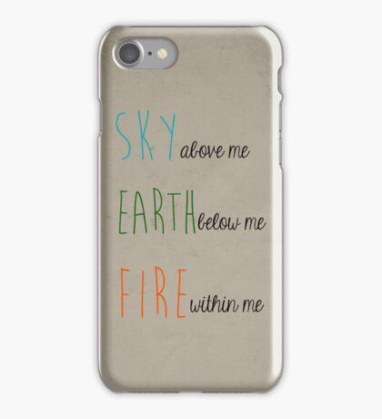 Sky, Earth, & Fire iPhone Case/Skin