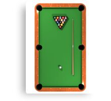 Billiards / Pool Balls on Table Canvas Print