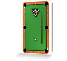 Billiards / Pool Balls on Table Greeting Card