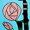 Rose: In the style of Mackintosh by CreativeEm