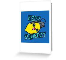 Ezpz Lemon Squeezy v1 Greeting Card