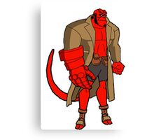 Bruce Timm Style Hellboy Canvas Print