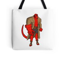 Bruce Timm Style Hellboy Tote Bag