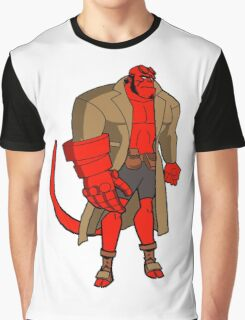 Bruce Timm Style Hellboy Graphic T-Shirt