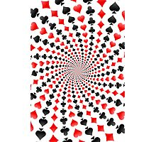 Poker / Blackjack Card Suits Spiral Photographic Print