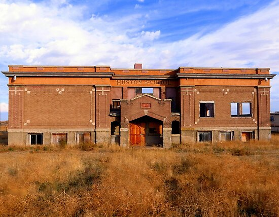 Abandoned School...Houston, Idaho by trueblvr