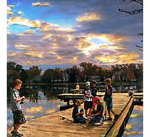 Boys On The Dock Photographic Print
