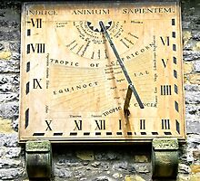 Vertical Sundial, Eyam Parish Church  by Rod Johnson