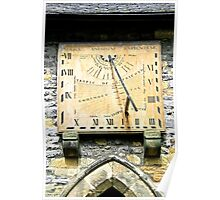 Vertical Sundial, Eyam Parish Church  Poster