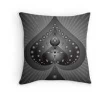 Card Suits: Spades Symbol Throw Pillow