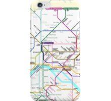 Paris Metro map iPhone Case/Skin