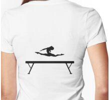 Gymnastics Beam Splits Womens Fitted T-Shirt