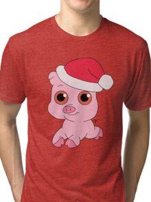 Christmas Pig Tri-blend T-Shirt