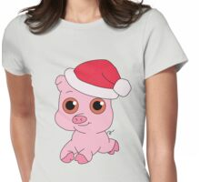 Christmas Pig Womens Fitted T-Shirt