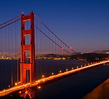 Golden Gate Bridge by Night by Melanie Viola
