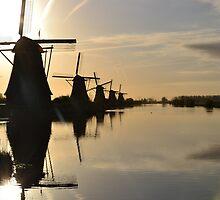 Windmills by HeleenO