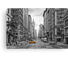 5th Avenue Yellow Cab - NYC Canvas Print