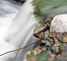Blue Earth Mn Waterfall 3 by Tina Hailey