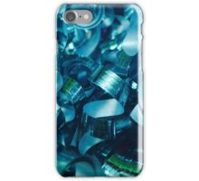 Teal Curly Ribbons iPhone Case/Skin